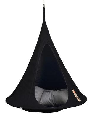 Foto Poltrona sospesa Bonsai - / Ø 120 cm - Per bambini di Cacoon - Nero - Tessuto