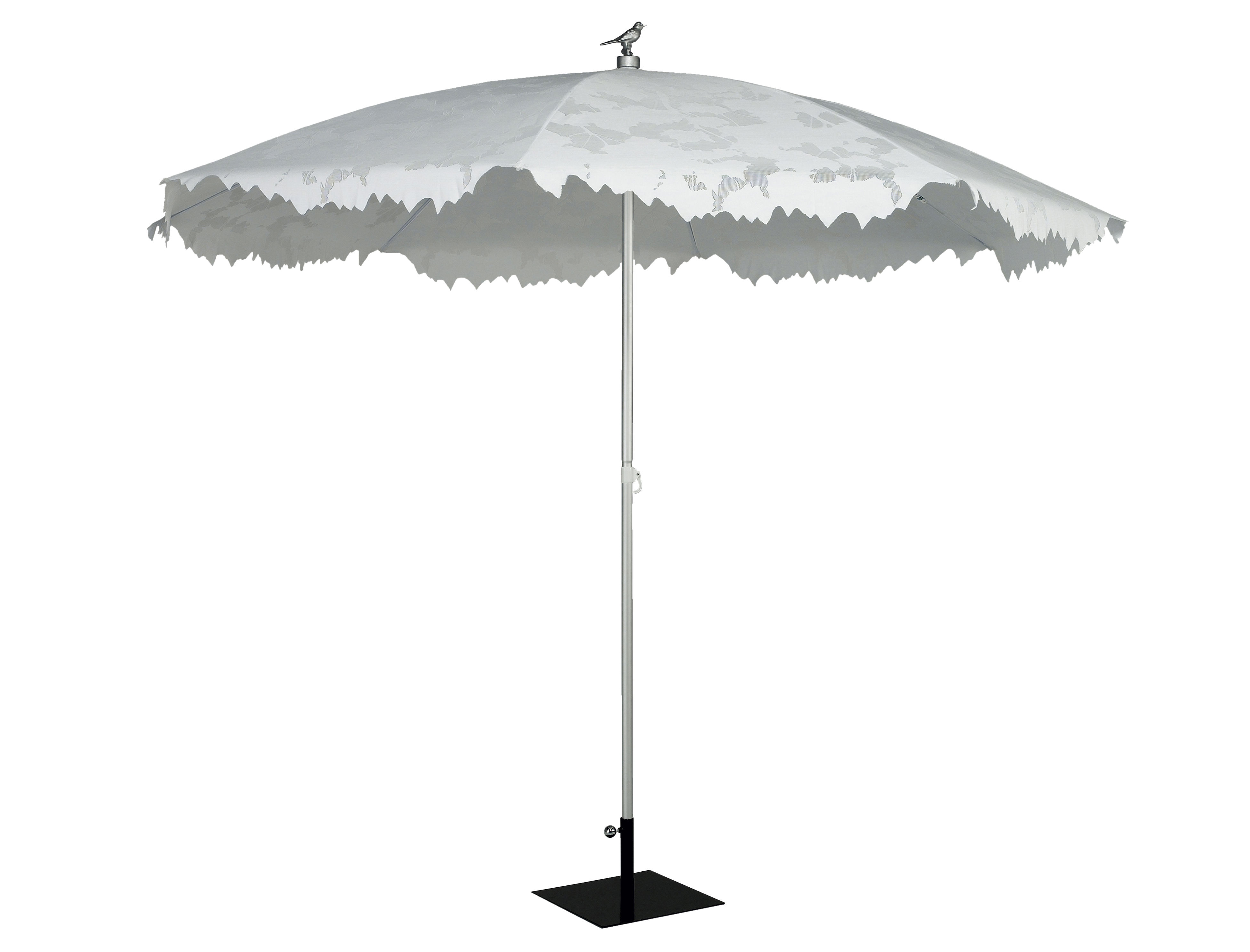 shadylace xl parasol 350 cm white sunshade by sywawa. Black Bedroom Furniture Sets. Home Design Ideas