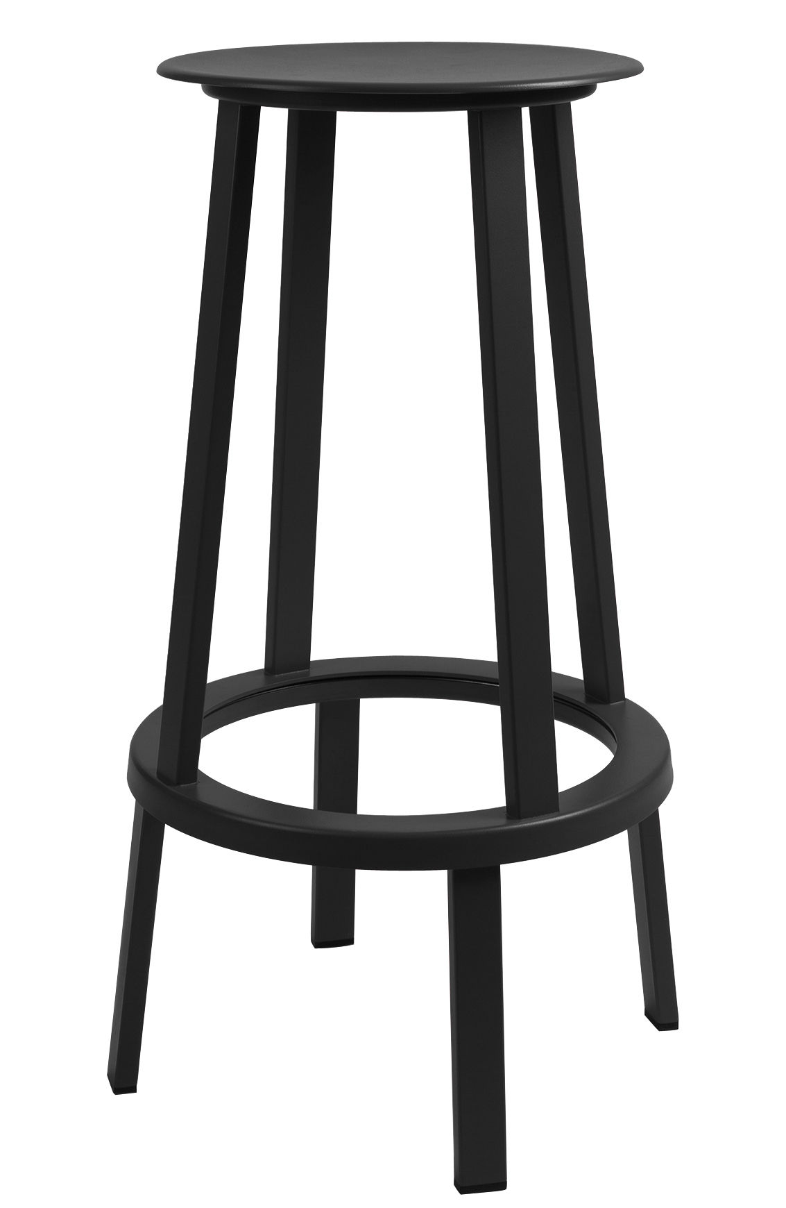 tabouret haut pivotant revolver h 75 cm m tal noir hay. Black Bedroom Furniture Sets. Home Design Ideas