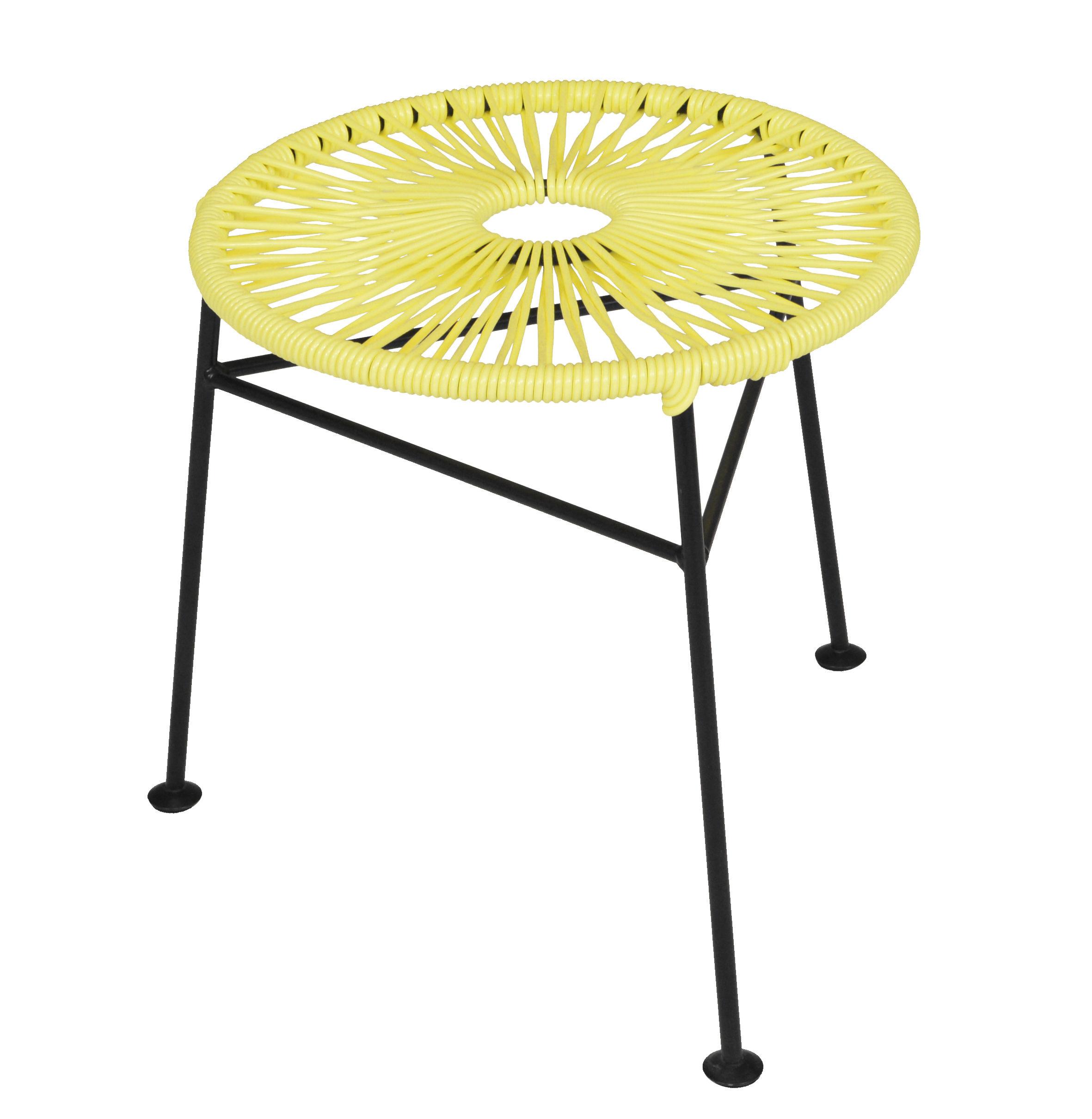 Tabouret empilable centro plastique tress jaune ok design pour sentou edition - Tabouret plastique empilable ...