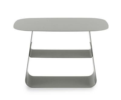 Foto Tavolino Stay / 40 x 52 cm - Normann Copenhagen - Grigio - Metallo Tavolino d'appoggio