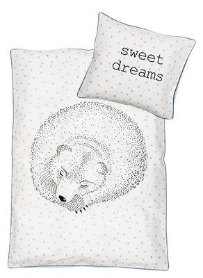 Foto Set completo di lenzuola per bambino Rasmus / 100 x 140 cm - Bloomingville - Bianco,Blu - Tessuto Biancheria da letto bambino