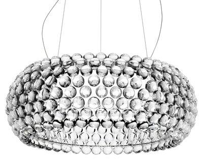 Foto Sospensione Caboche Grande - LED / Ø 70 cm di Foscarini - Trasparente - Materiale plastico