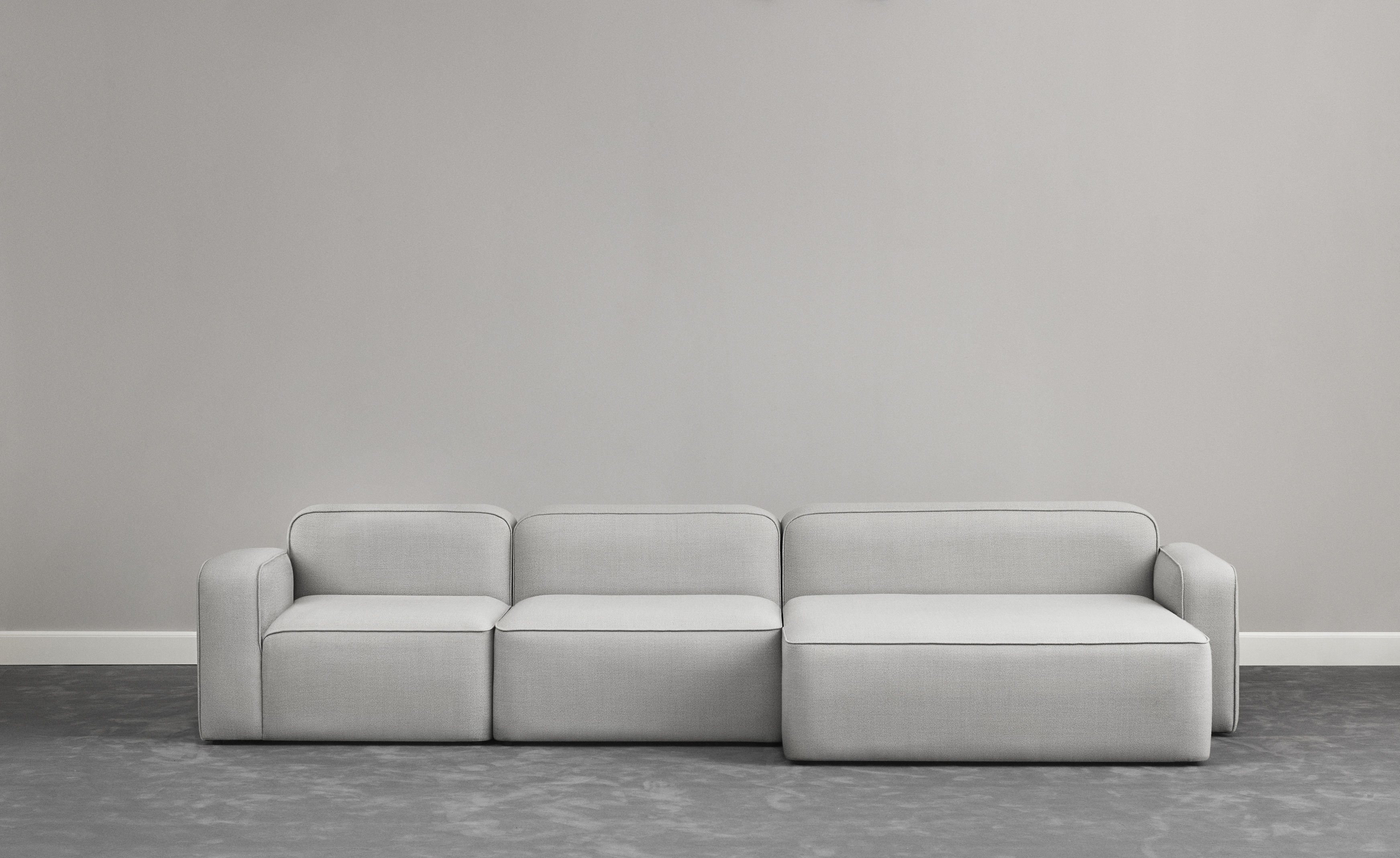 rope modular sofa open left side l 120 cm light grey by normann copenhagen. Black Bedroom Furniture Sets. Home Design Ideas