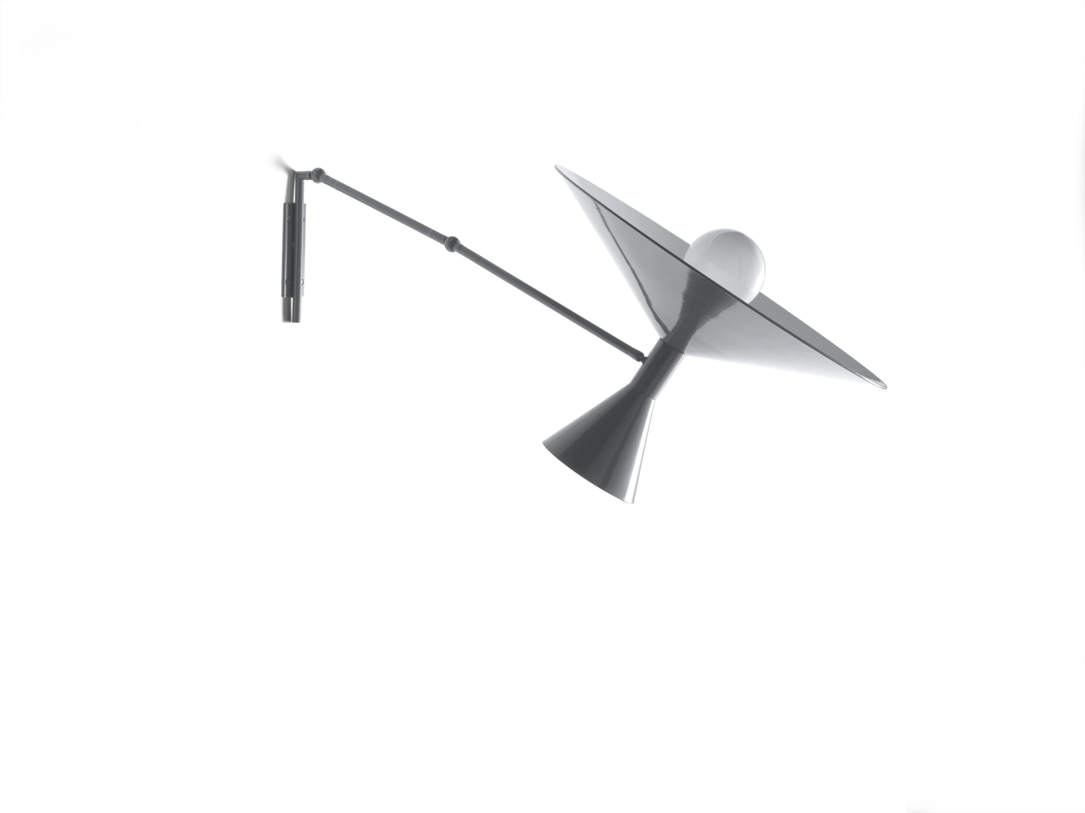 applique lampe de marseille by le corbusier l 166 cm r dition 1954 gris mat int rieur. Black Bedroom Furniture Sets. Home Design Ideas