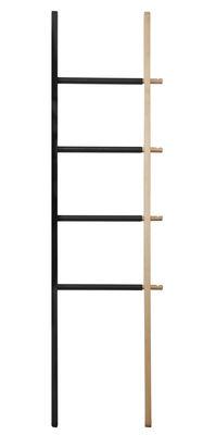 valet hub porte serviettes coulissant h 152 cm h tre naturel noir umbra. Black Bedroom Furniture Sets. Home Design Ideas