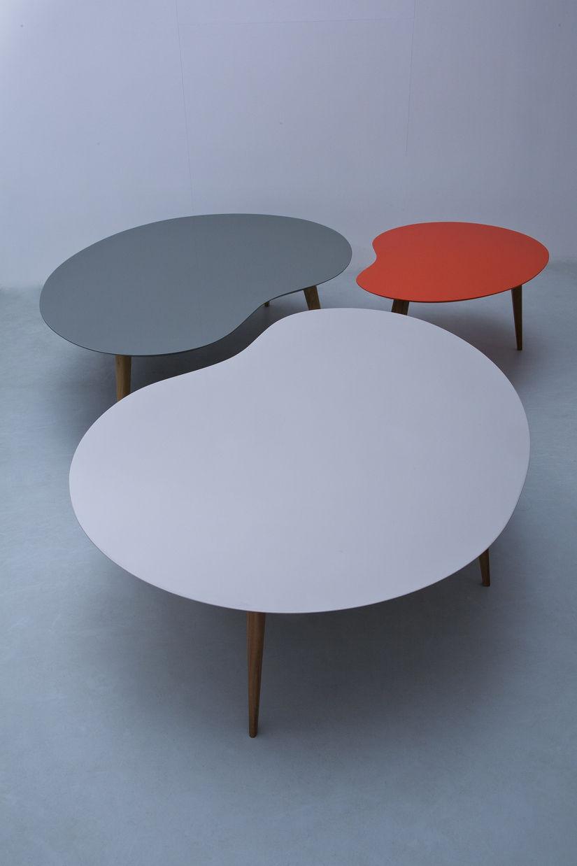 Table basse lalinde xxl haricot l 130cm pieds bois for Bureau haricot