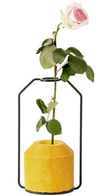 Foto Vaso Weight D - / L 13 x H 22 cm di Spécimen Editions - Giallo - Metallo