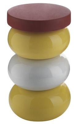Foto Sgabello Faituttotu - Grosso modulo impilabile per piede di sgabello - h 34 cm di Serralunga - Rosso - Materiale plastico