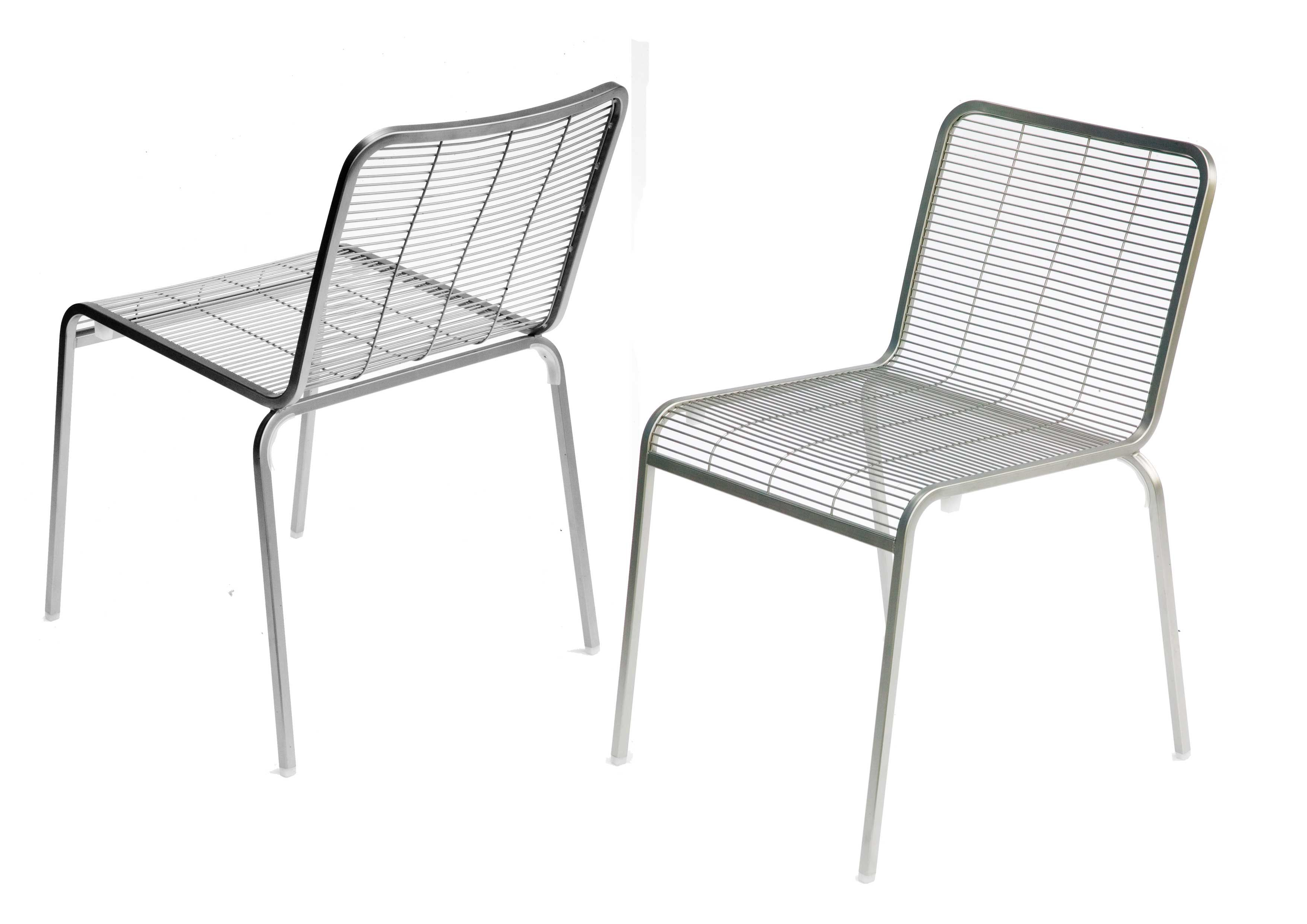 Aria chair metal steel by lapalma for Steel chair design