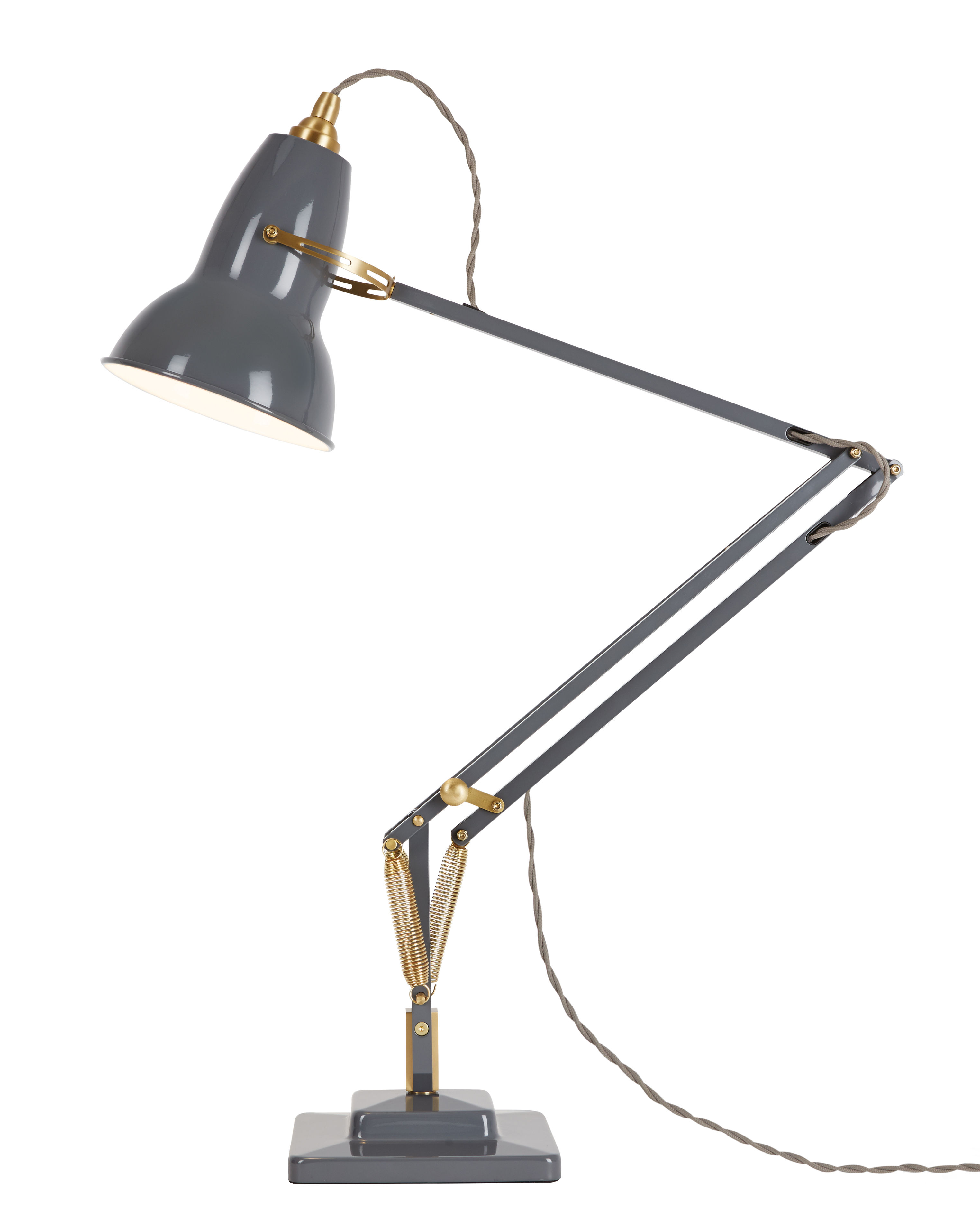 lampe de table original 1227 laiton gris l phant anglepoise. Black Bedroom Furniture Sets. Home Design Ideas
