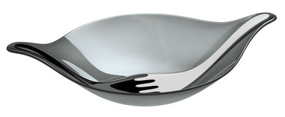 Image du produit Saladier Leaf 3 L + couverts à salade / 57 x 38 cm - Koziol Blanc,Gris,Noir en Matière plastique