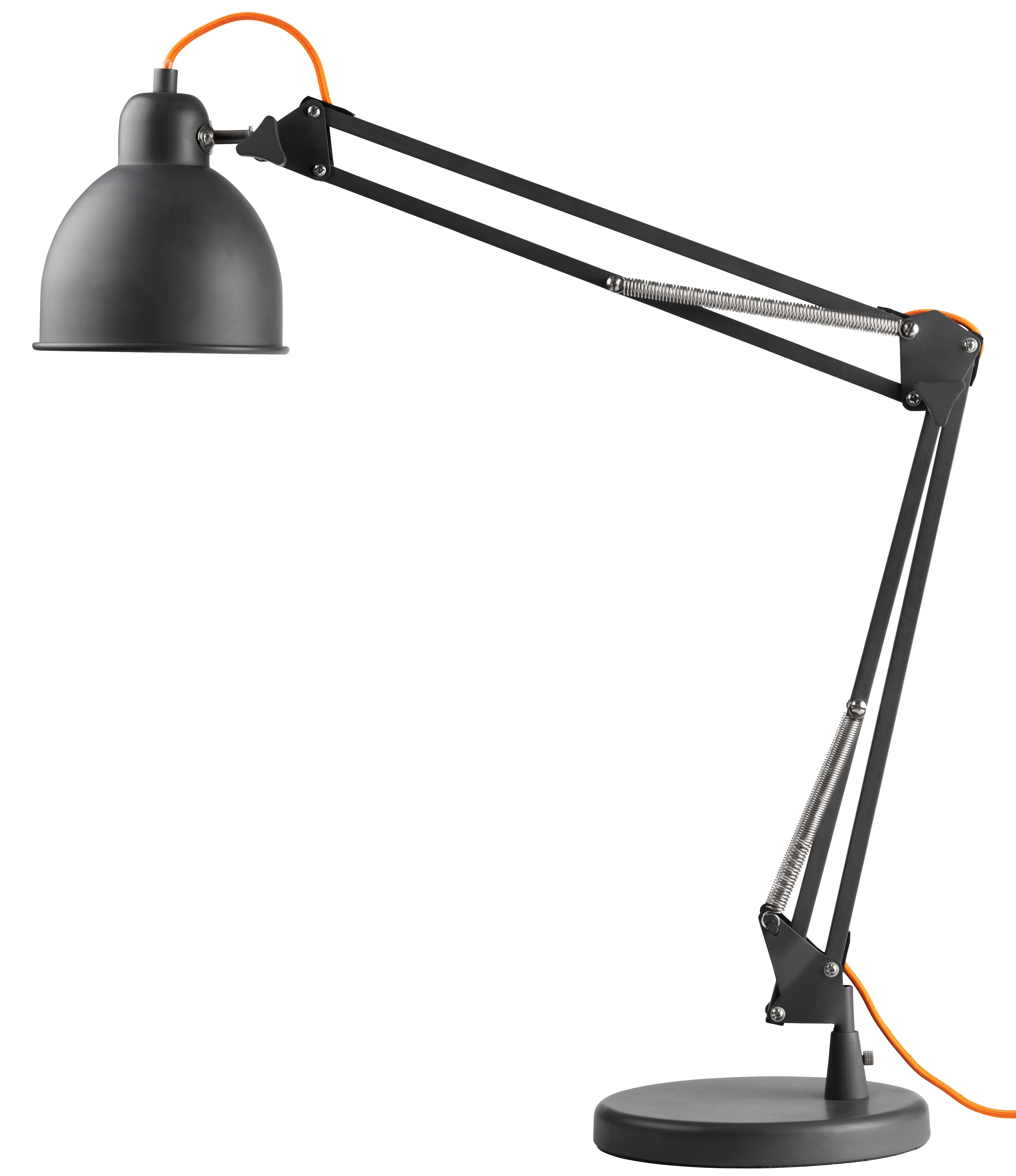 lampe de table industry bras articul gris mat c ble orange frandsen. Black Bedroom Furniture Sets. Home Design Ideas