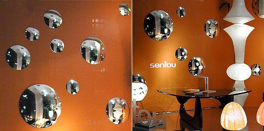 Miroir bomb 76 cm 76 cm argent sentou edition for Miroir sorciere sentou
