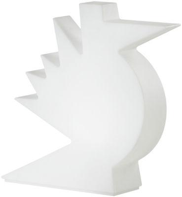 Foto Lampada da tavolo Here - / L 50 x H 50 cm di Slide - Bianco - Materiale plastico