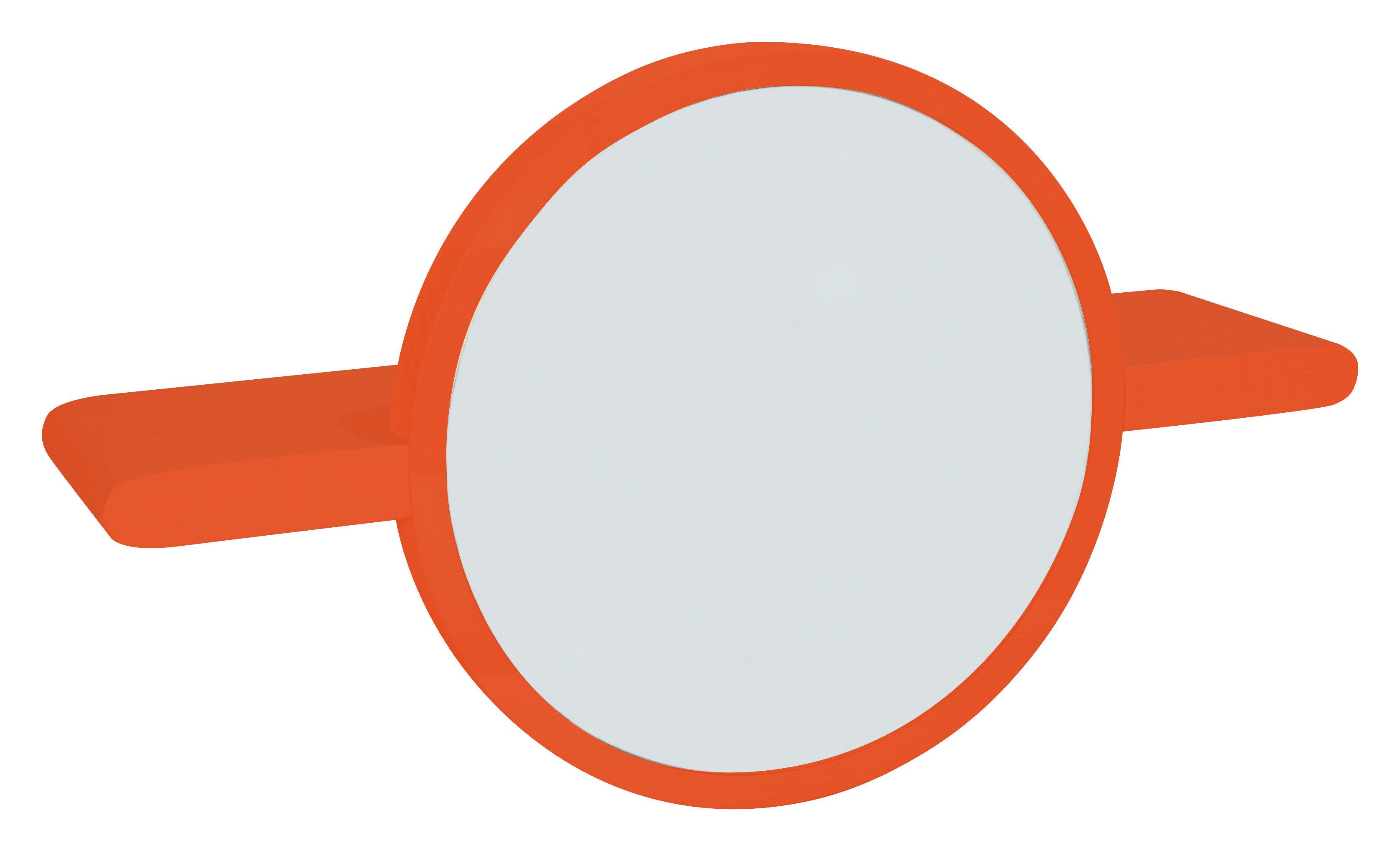 Etag re mirette miroir rond l 60 cm orange made in for Miroir rond 60 cm