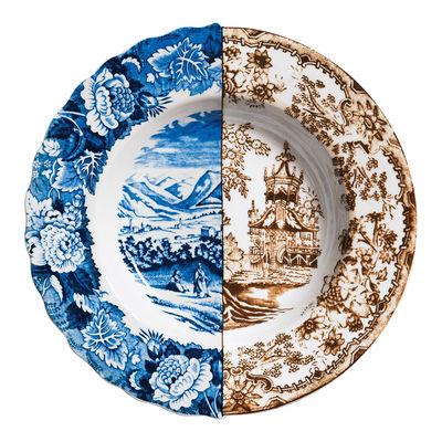 Foto Piatto fondo Hybrid Sofronia - Ø 25,4 cm di Seletti - Multicolore - Ceramica