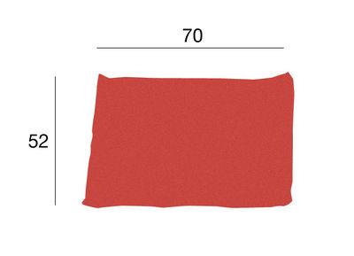 Foto Cuscino Kilt - Cuscino in tessuto di Zanotta - Rosso - Tessuto