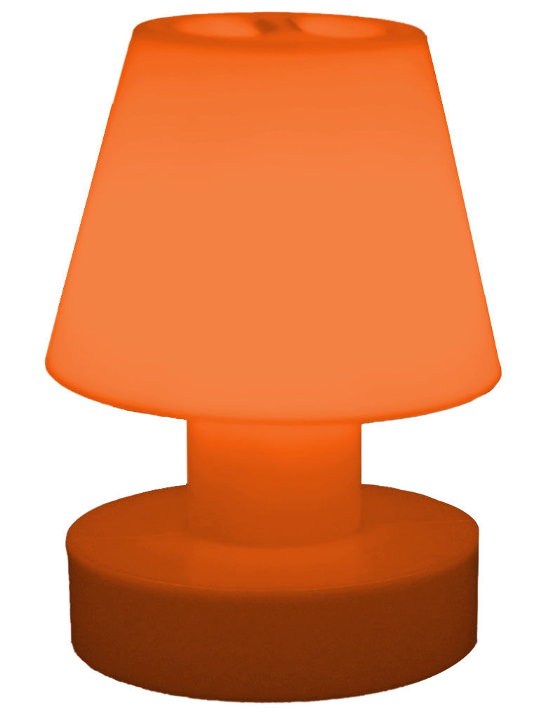 lampe sans fil rechargeable h 28 cm orange bloom. Black Bedroom Furniture Sets. Home Design Ideas
