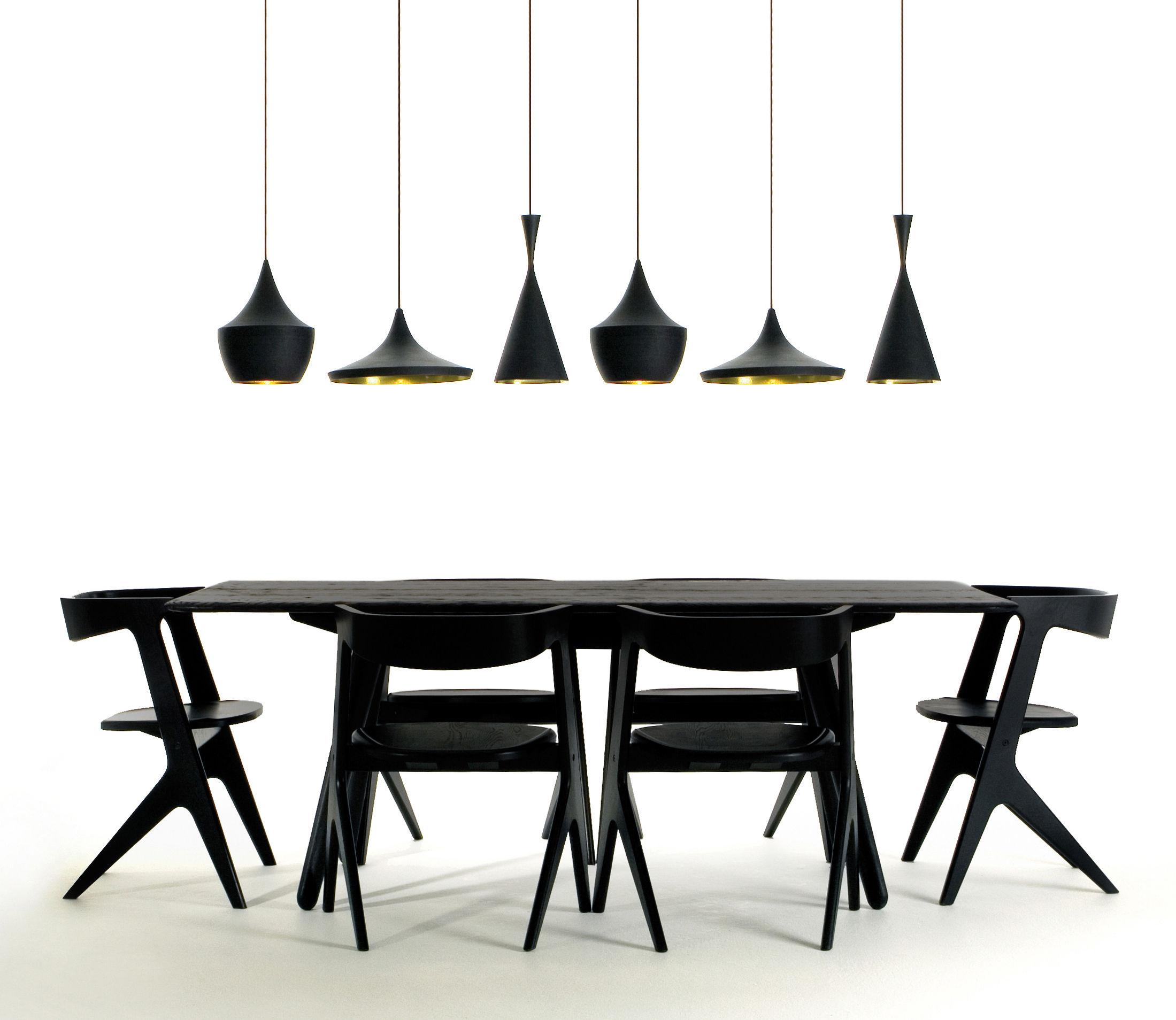 scopri sospensione beat light fat nero interno dorato di tom dixon made in design italia. Black Bedroom Furniture Sets. Home Design Ideas