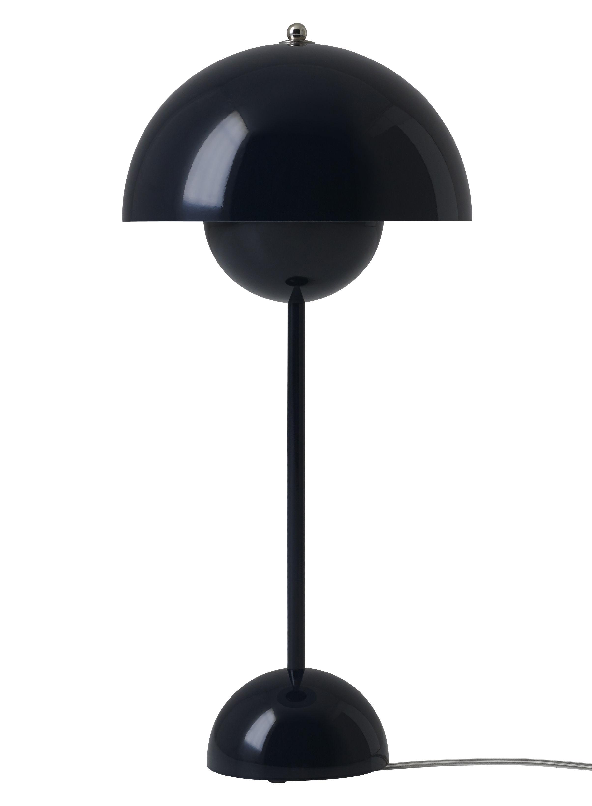 lampe de table flowerpot vp3 h 49 cm bleu nuit and tradition. Black Bedroom Furniture Sets. Home Design Ideas