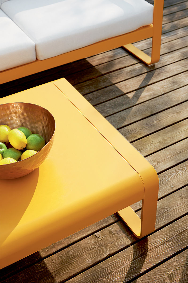 Bellevie straight sofa w 160 cm honey by fermob Sofa 160 cm lang