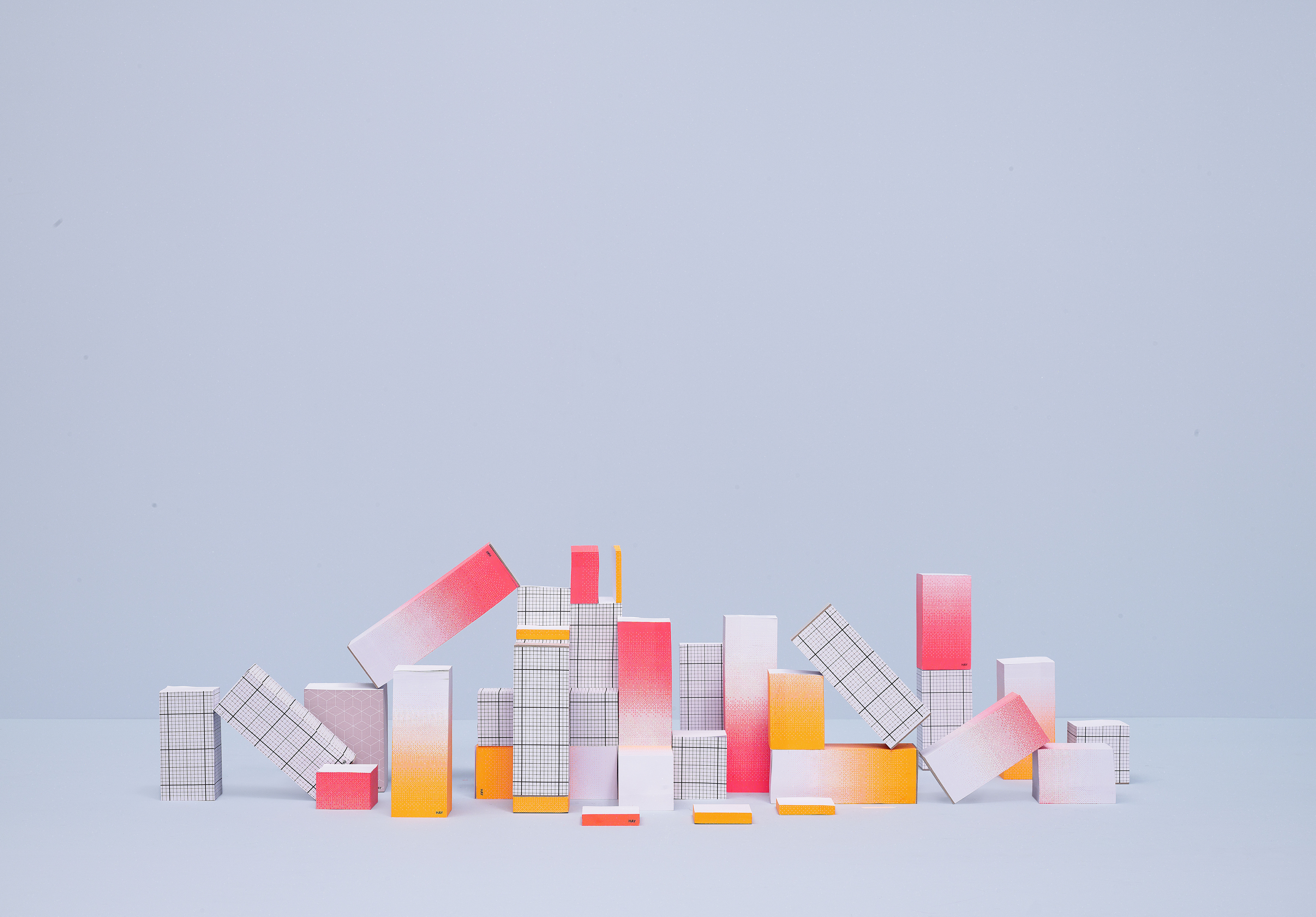 Tower block notebook h 25 cm h 25 cm coral by hay for Hay design