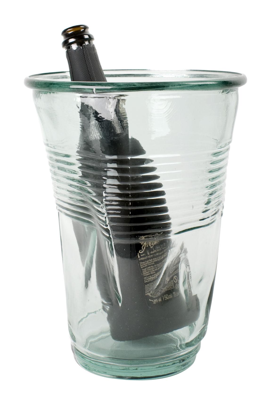 wine cooler vase clear by rob brandt pop corn. Black Bedroom Furniture Sets. Home Design Ideas
