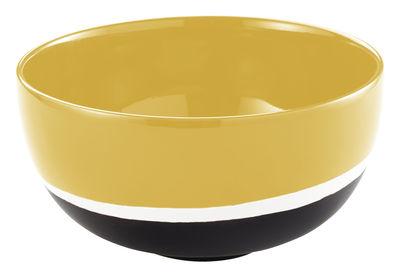 Foto Insalatiera Sicilia piccolo modello / Ø 19 cm - Maison Sarah Lavoine - Bianco,Nero,Tournesol - Ceramica