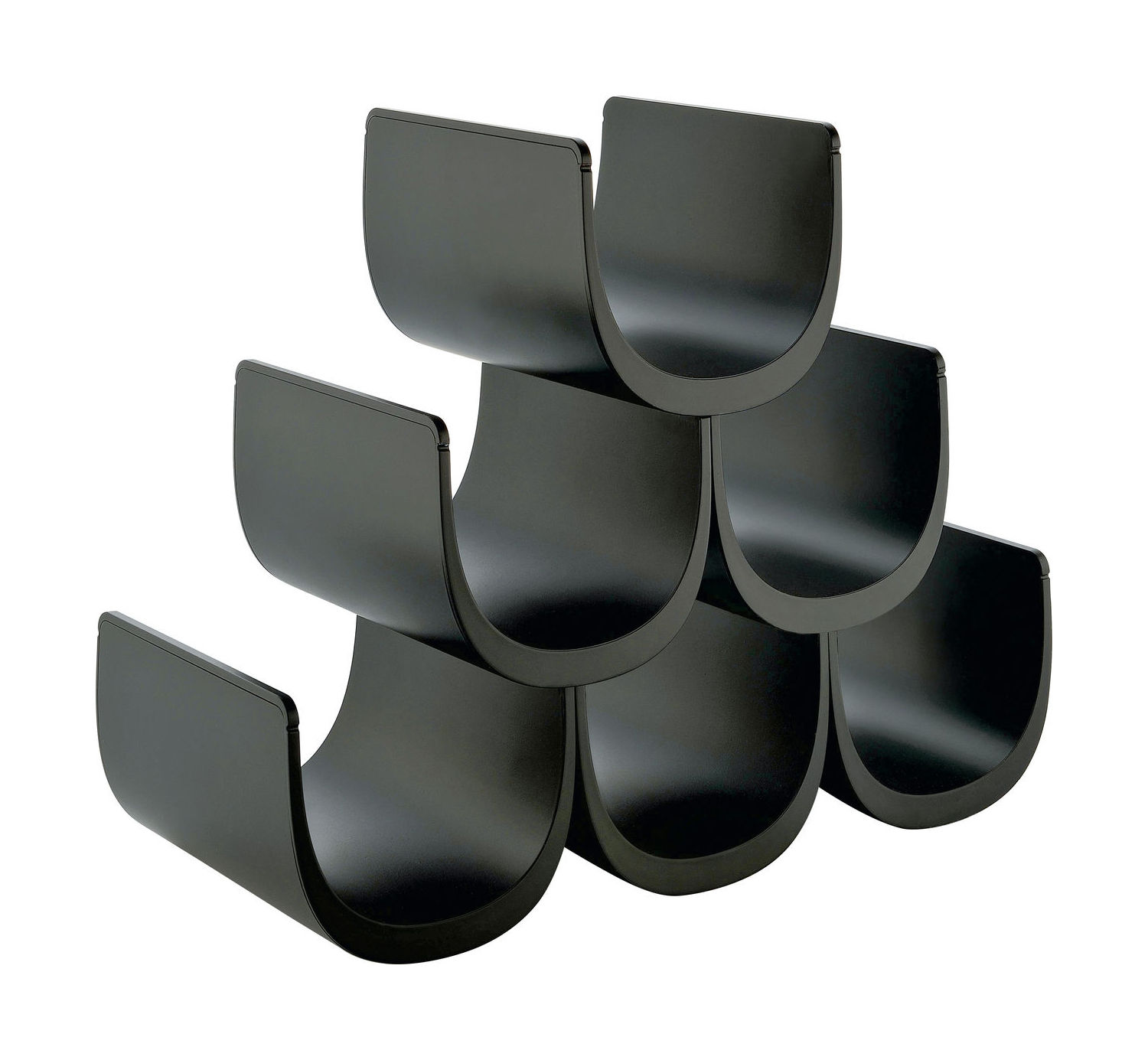 casier bouteilles no modulable 6 bouteilles noir alessi. Black Bedroom Furniture Sets. Home Design Ideas