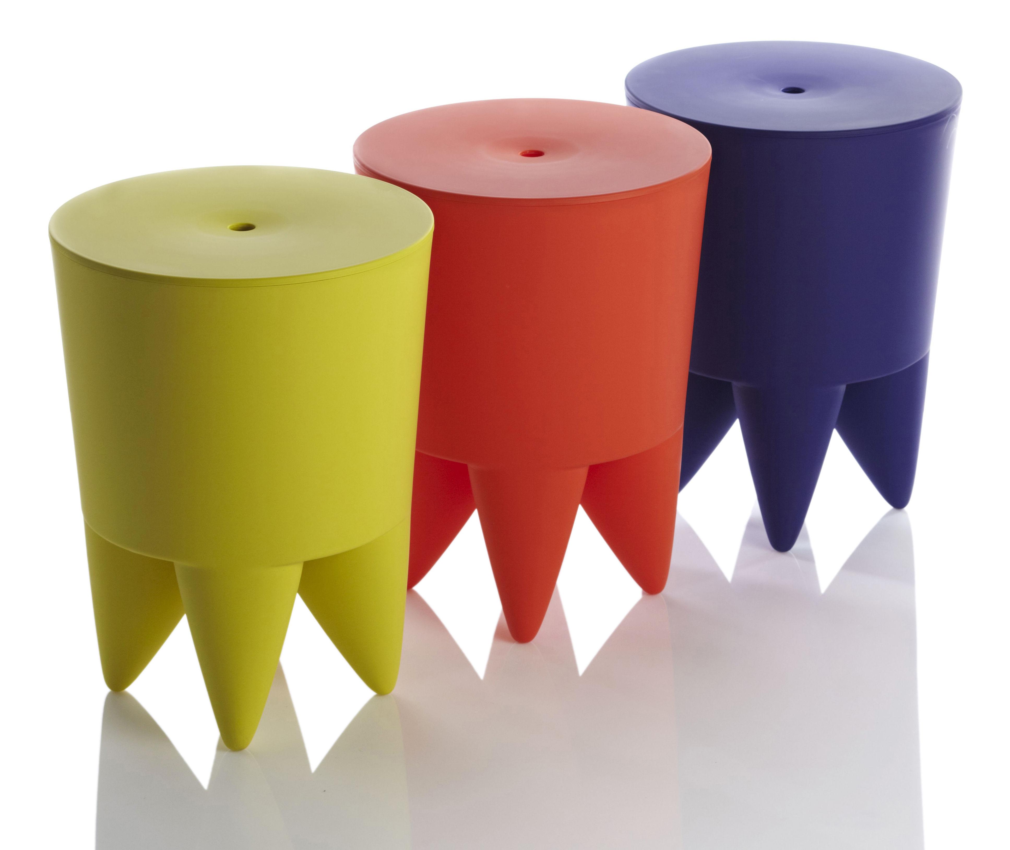 tabouret new bubu 1er opaque coffre plastique gris souris xo. Black Bedroom Furniture Sets. Home Design Ideas