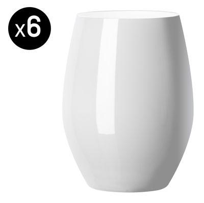Foto Bicchiere Vertical Party - /Set di 6 - 42 cl di Italesse - Bianco opaco - Vetro