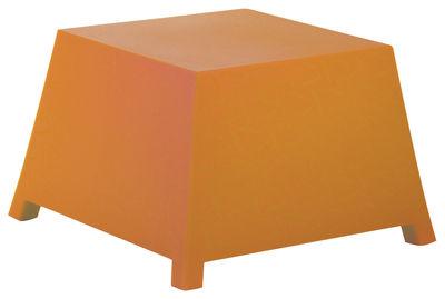 Foto Tavolino Raffy - Pouf di Qui est Paul ? - Arancione - Materiale plastico