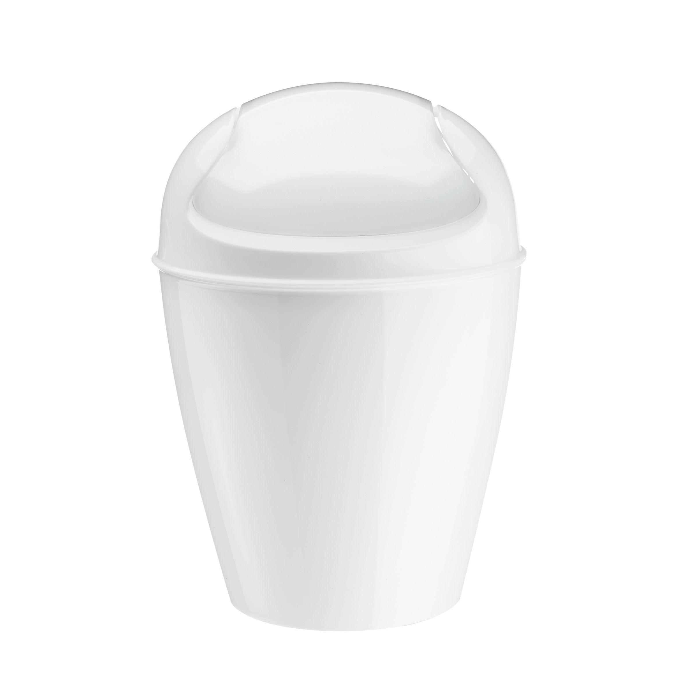 Poubelle de table del xxs h 18 7 cm 0 9 litres blanc for Poubelle de table design
