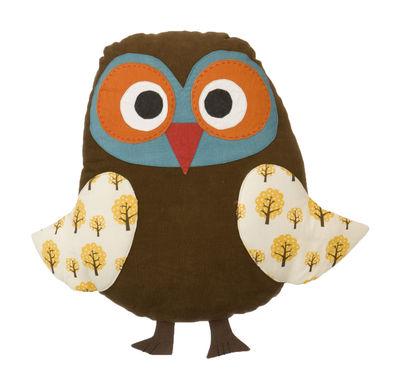 Foto Cuscino Owl cushion di Ferm Living - Marrone - Tessuto