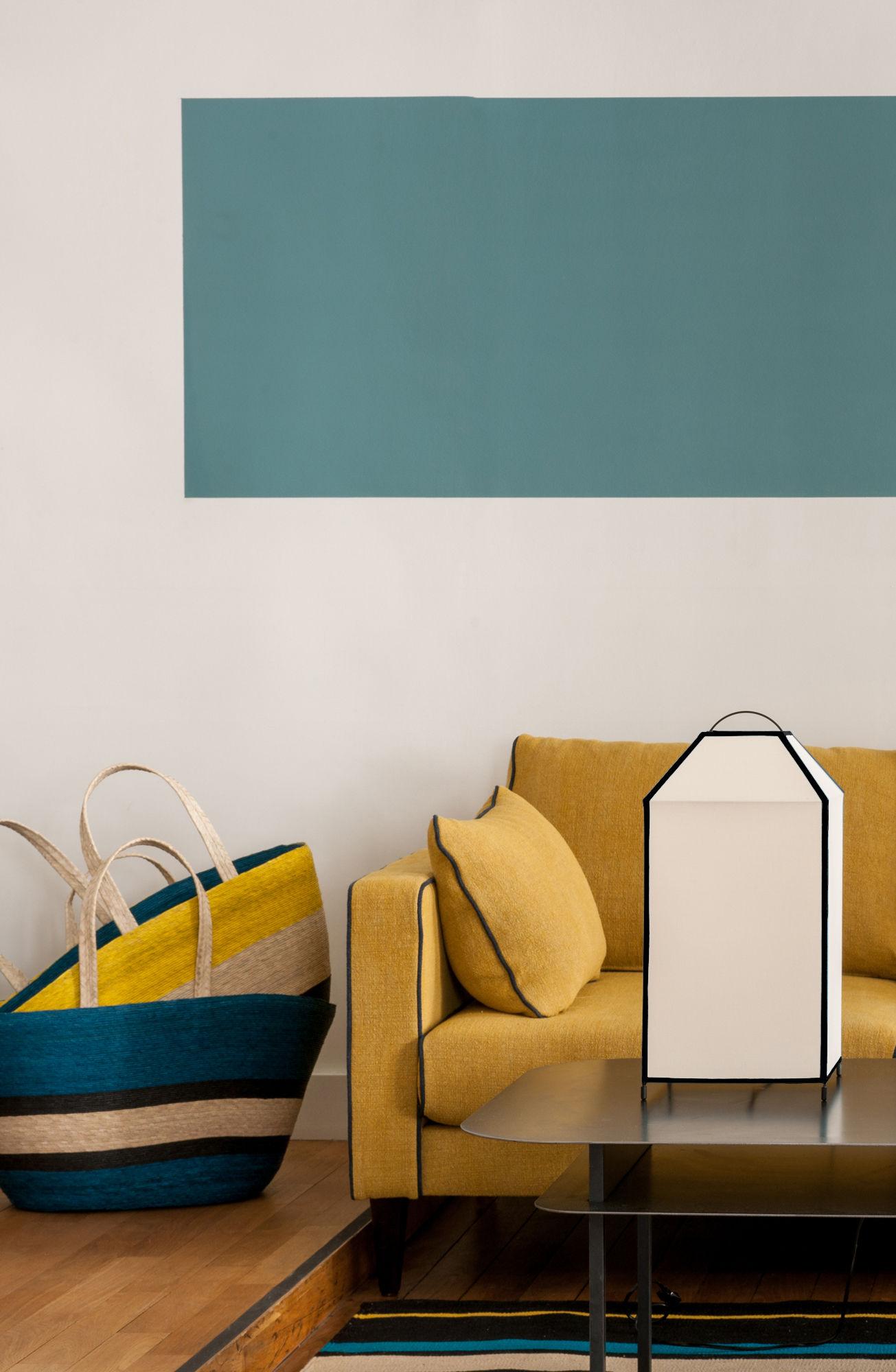 lampe de table charlie h 45 cm bleu vintage maison sarah lavoine. Black Bedroom Furniture Sets. Home Design Ideas