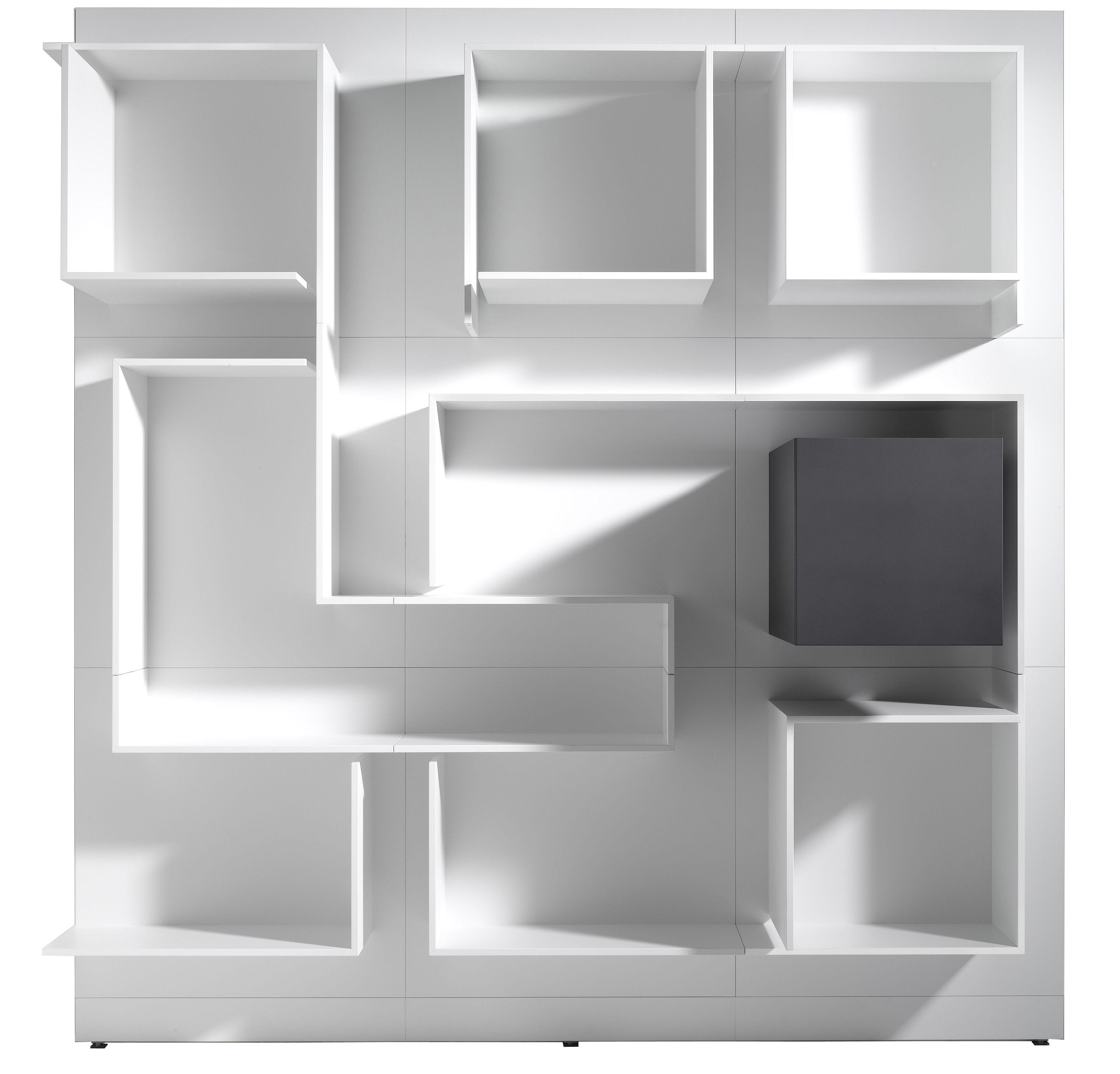 Biblioth que vita n 15 l 180 x h 180 cm composition n 15 l 180 x h 180 cm blanc avec - Mdf italia ...