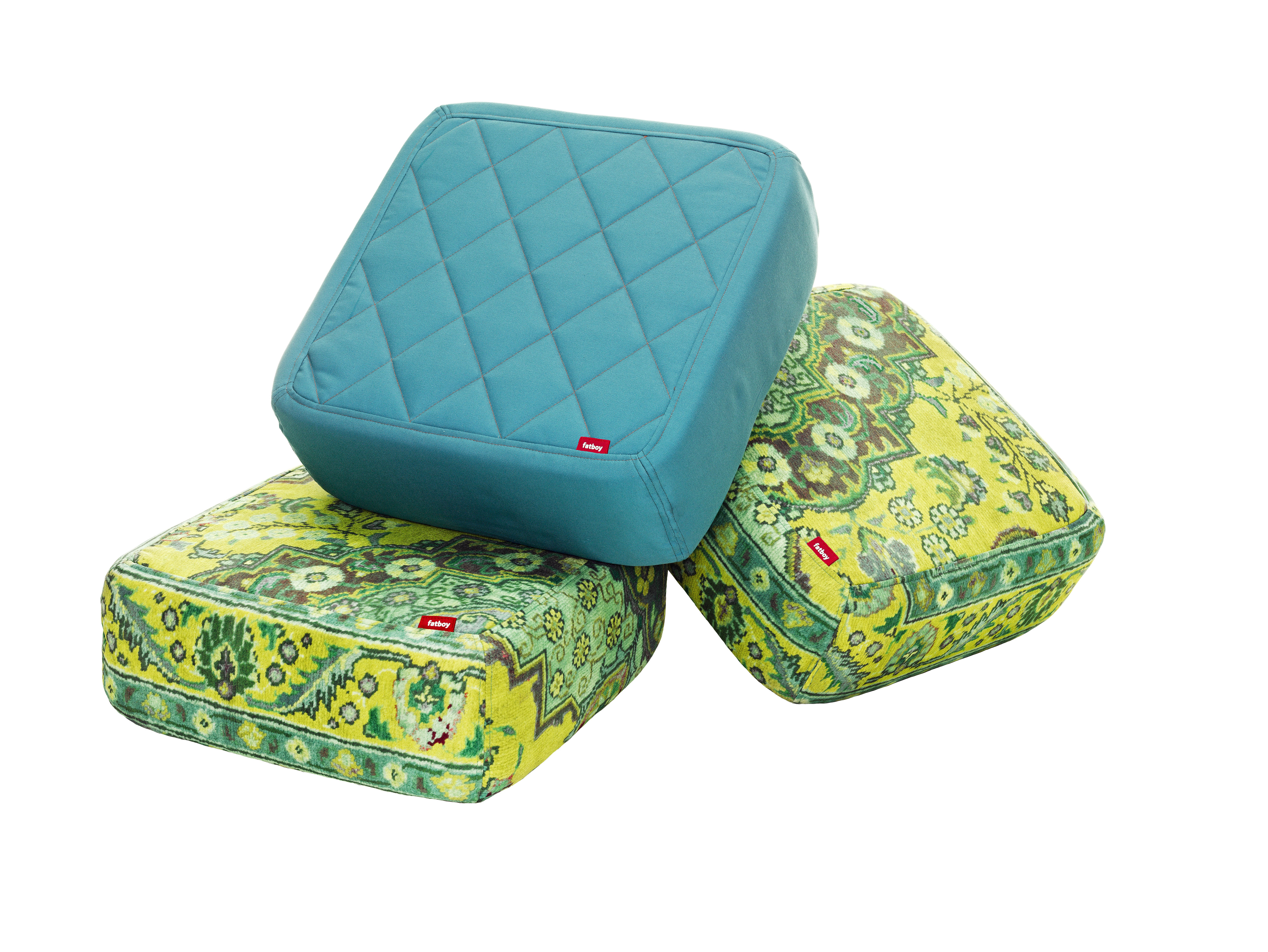 baboesjka pouf set 3 floor cushions blue yellow persian by fatboy. Black Bedroom Furniture Sets. Home Design Ideas
