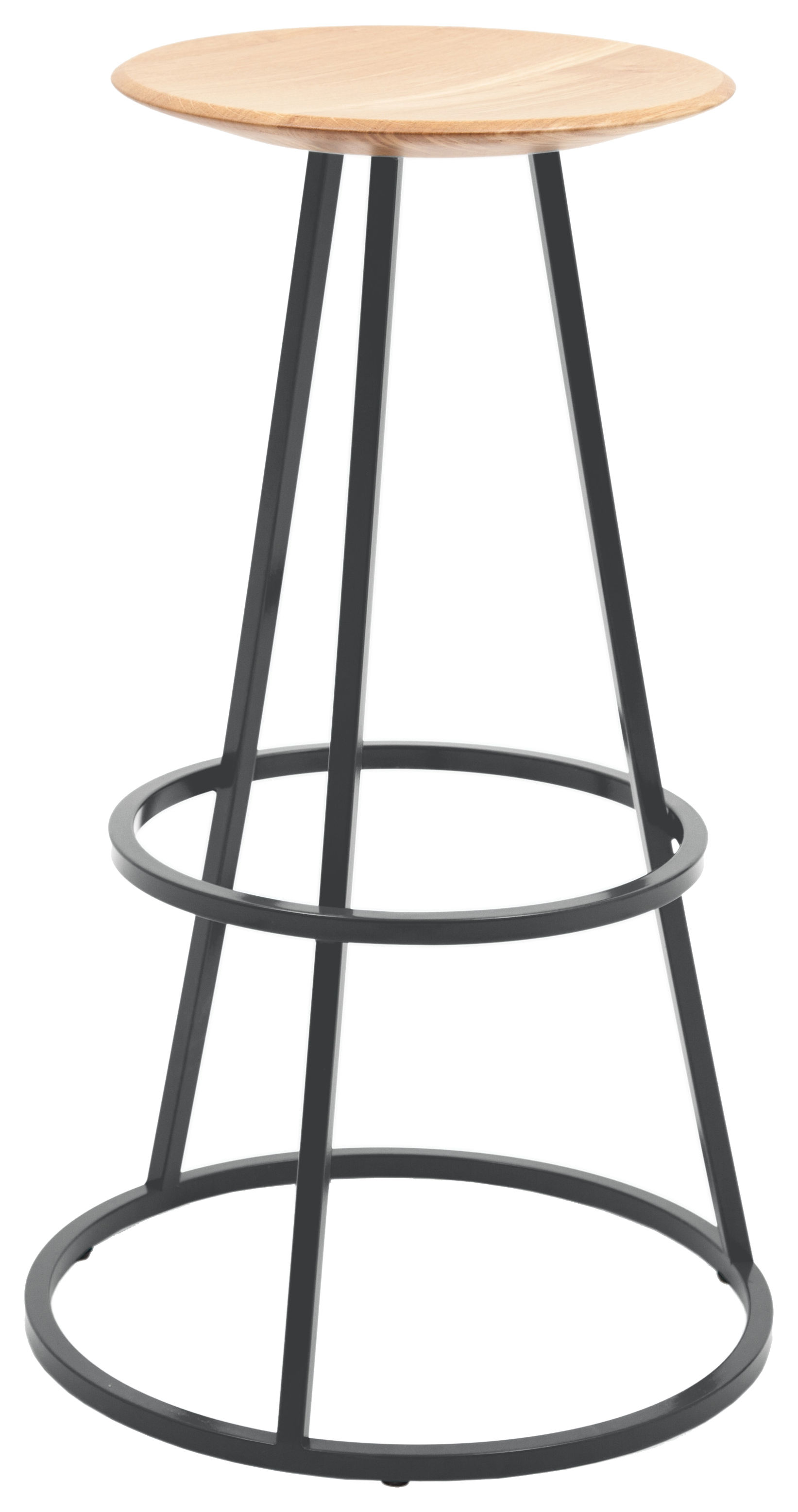 tabouret de bar grand gustave h 77 cm bois m tal gris ardoise hart. Black Bedroom Furniture Sets. Home Design Ideas