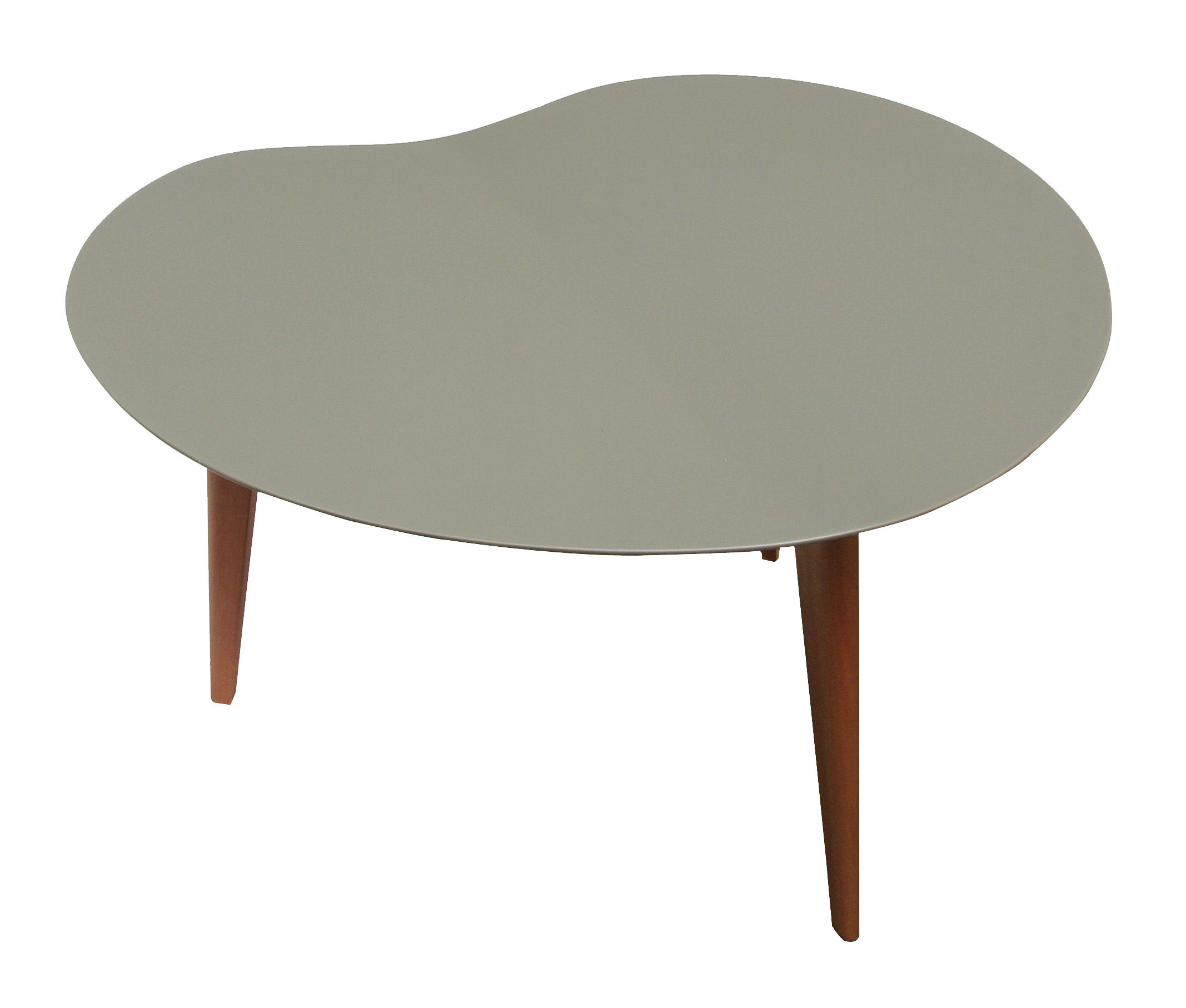 Lalinde coffee table free form small grey top wood for Table form design