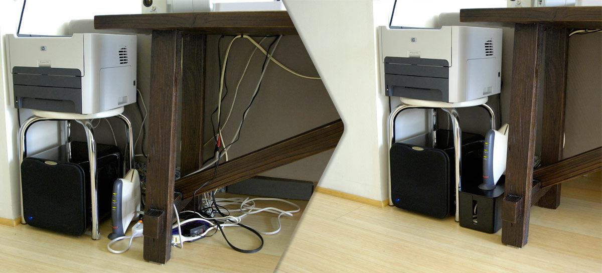 bo te cablebox cache c bles l 40 cm noir bluelounge. Black Bedroom Furniture Sets. Home Design Ideas