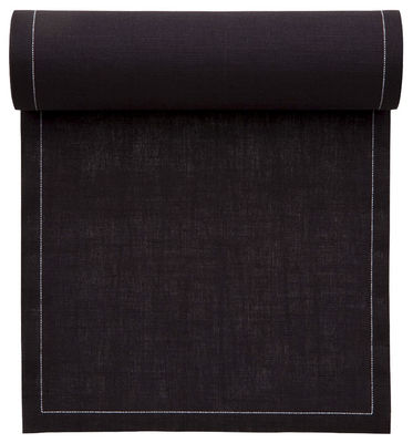 serviette en tissu rouleau de 25 serviettes pr d coup es noir mydrap. Black Bedroom Furniture Sets. Home Design Ideas