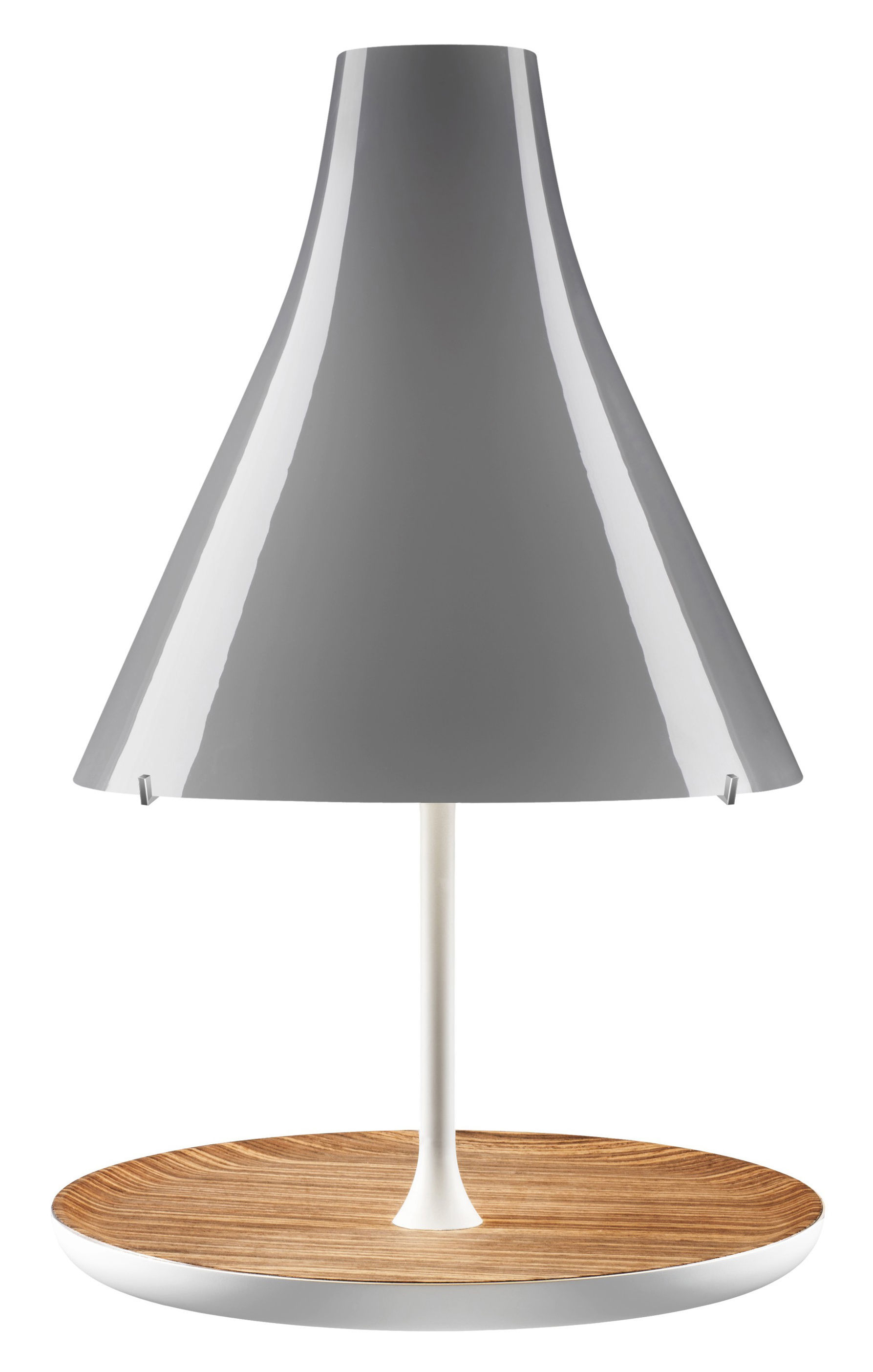 tosca table lamp wooden base grey lampshade wood base by foscarini. Black Bedroom Furniture Sets. Home Design Ideas