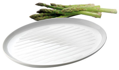 Dinner plate - Set of 2 striped BBQ dishes