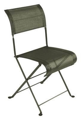 chaise pliante dune toile savane fermob. Black Bedroom Furniture Sets. Home Design Ideas