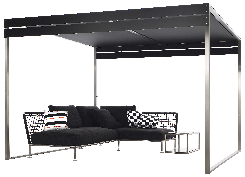pergola structure inox lattes noires coro. Black Bedroom Furniture Sets. Home Design Ideas