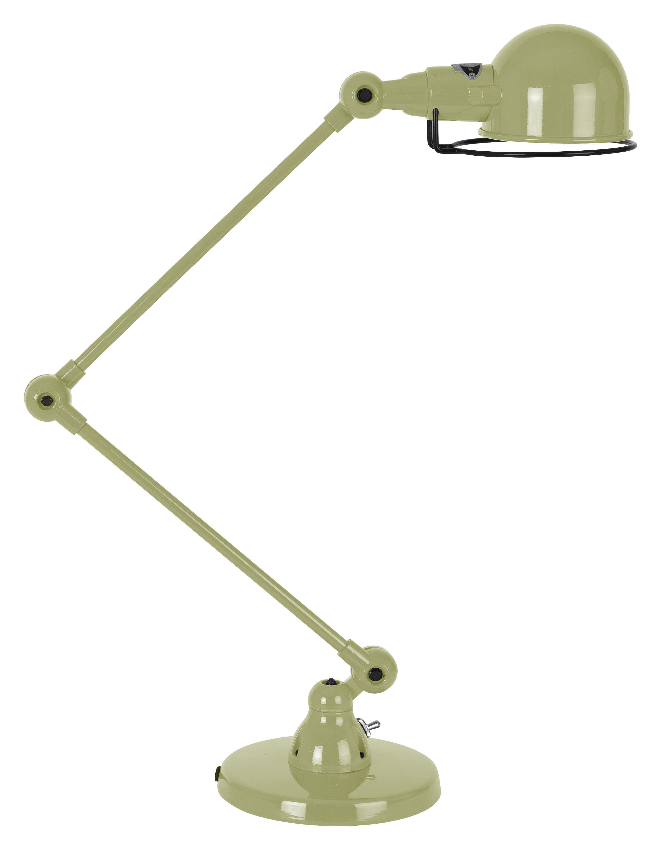 Signal table lamp 2 arms h max 60 cm may green by jielde for Table lamp with 2 arms