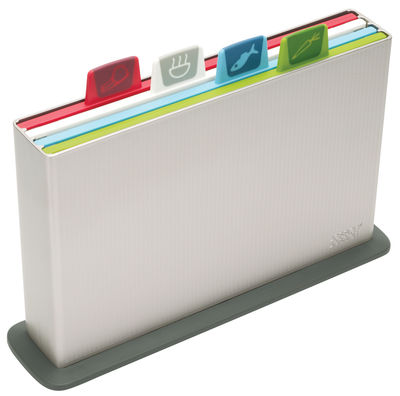 Index chopping boards / Set of 4 with storage case Silver