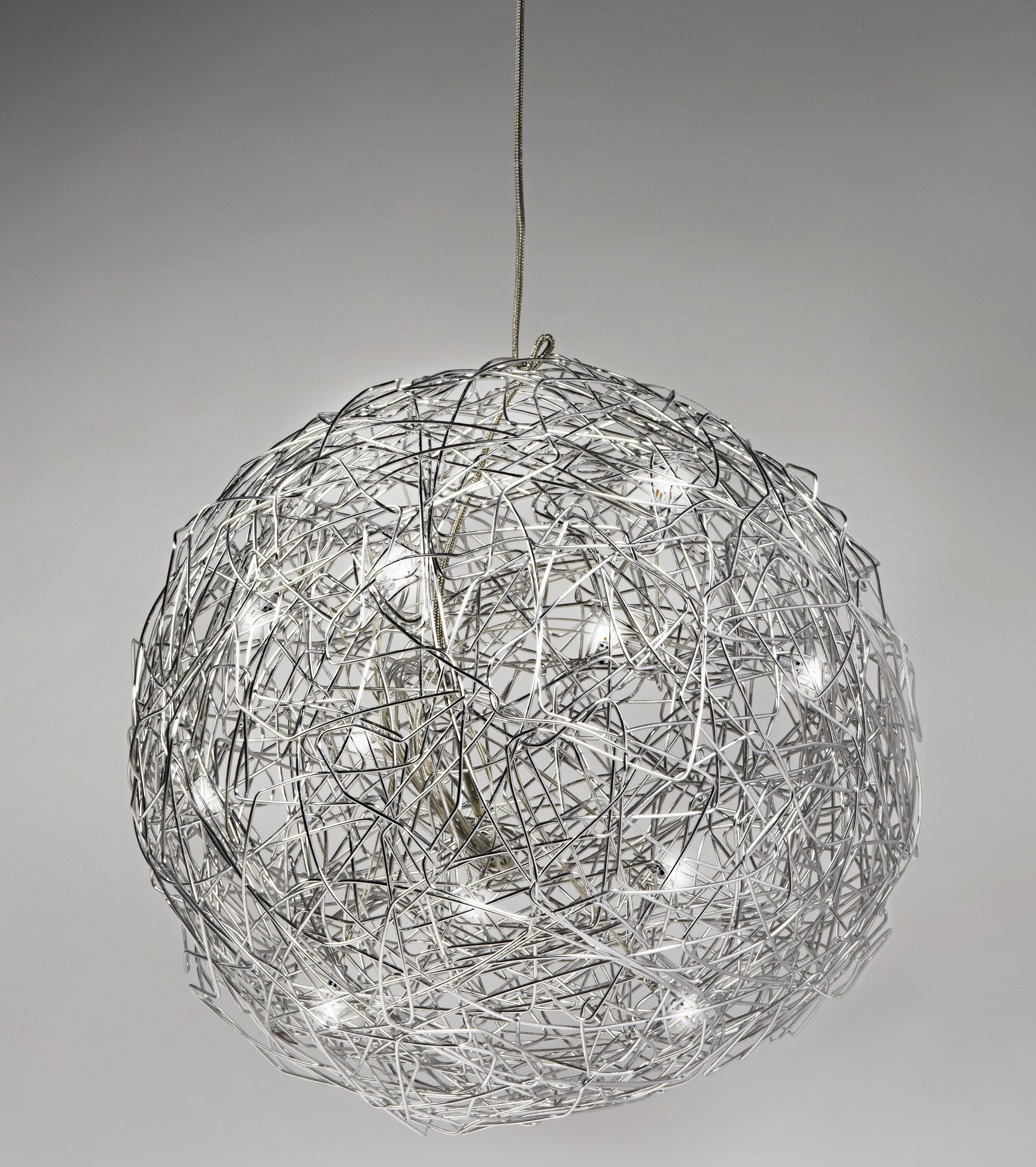 suspension fil de fer 40 cm aluminium 40 cm catellani smith. Black Bedroom Furniture Sets. Home Design Ideas