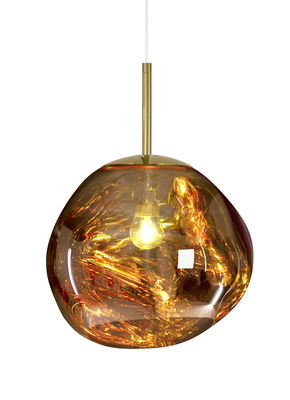 Foto Sospensione Melt Mini - / Ø 27 cm di Tom Dixon - Oro - Materiale plastico